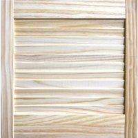 Pine Unglazed Internal Louvre Door  (H)457mm (W)457mm