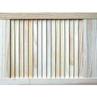 Pine Unglazed Internal Louvre Door  (H)610mm (W)457mm