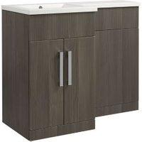 Cooke & Lewis Ardesio Woodgrain Effect Bodega Grey Vanity & Toilet Unit