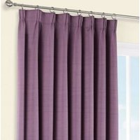 Shelley Blueberry Semi plain Lined Pencil pleat Curtains (W)228cm (L)228cm  Pair