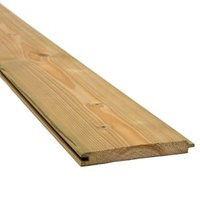 Planed Spruce Tongue & groove Cladding (W)119mm (T)14.5mm
