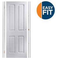 4 Panel Pre-painted White Unglazed Internal Door kit For opening sizes (W)683-695mm (H)1988-1996mm (D)35mm