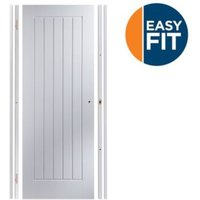 Cottage Pre-painted White Unglazed Internal Door kit  For opening sizes (W)683-695mm (H)1988-1996mm (D)35mm