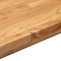 38mm Colmar oak Wood effect Round edge Laminate Breakfast bar (L)2m (D)900mm