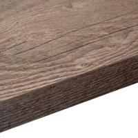 38mm Mountain timber Black Wood effect Square edge Laminate Breakfast bar (L)2m (D)900mm