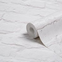 Colours White Painted brick Wallpaper