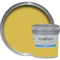 Colours Standard Golden Rays Matt Emulsion Paint 0.05L Tester Pot