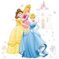 Disney Princess Self Adhesive Wall Stickers (L)1m (W)700mm.