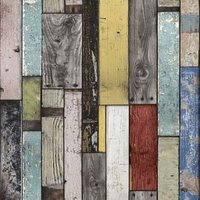 Painted wooden planks Wallpaper