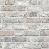 Grandeco Country brick Rose Faux wall Wallpaper