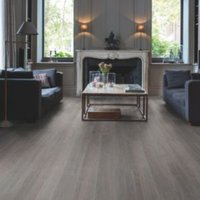 Quick-Step Paso Dark grey Oak effect Waterproof Luxury vinyl flooring tile 2.105 m² Pack
