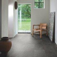 Quick-Step Lima Black Slate Effect Matt Waterproof Luxury Vinyl Tile 2.08 m²