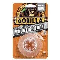 Gorilla Clear Mounting Tape (L)1.5m (W)25.4mm