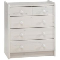 Wizard White 2 over 3 Chest Of Drawers (H)720mm (W)640mm (D)380mm