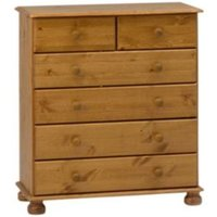 Malmo Stained 6 Drawer Chest (H)901mm (W)823mm (D)383mm
