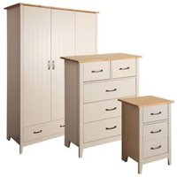 Westwick Grey and Pine effect 3 piece bedroom furniture set