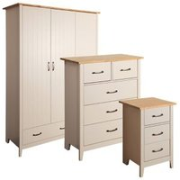 Westwick Grey pine effect 3 piece Bedroom furniture set