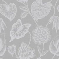 Rasch Havanna Grey & silver effect Foliage Wallpaper