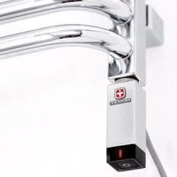 Terma Chrome effect 200W Thermostatic heating element (H)270mm