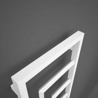 Terma Harley Vertical Designer radiator Soft White Powder Paint (H)1200 mm (W)430 mm