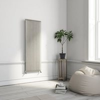 Terma Delfin Vertical Designer radiator Soft White Powder Paint (H)1800 mm (W)500 mm