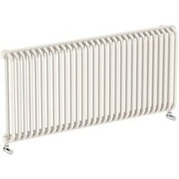 Terma Delfin Horizontal Designer radiator Soft White Powder Paint (H)540 mm (W)1220 mm
