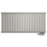 Terma Nemo Horizontal Designer radiator Metallic Stone Powder Paint (H)530 mm (W)1185 mm