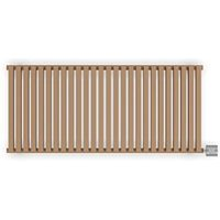 Terma Nemo Electric Horizontal Designer radiator Bright Copper Powder Paint (H)530 mm (W)1185 mm