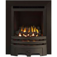 Ignite Westerly Chrome Effect Inset Open Fronted Full Depth Gas Fire