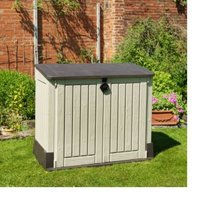 Store it out midi Wood effect Plastic Garden storage box