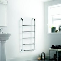 Heating Style Upton Towel warmer (H)1200mm (W)500mm