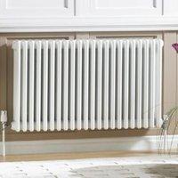 Acova 2 Column radiator  White (W)1226mm (H)600mm