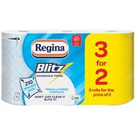 Regina Blitz White Paper towels Pack of 3