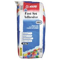 Mapei Fast set Ready mixed Grey Floor & wall Tile Powder Adhesive 20kg