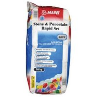 Mapei Fast set Ready mixed Grey Tile Powder Adhesive 20kg