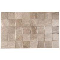 Fiji Grey Matt Stone effect Ceramic Wall tile  Pack of 10  (L)400mm (W)250mm