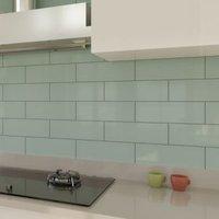 Windsor Sage Gloss Ceramic Wall tile Pack of 30 (L)300mm (W)100mm
