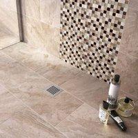 Haver Sand Matt Travertine Stone effect Ceramic Wall & floor tile Pack of 6 (L)300mm (W)600mm