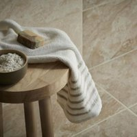 Haver Chalk Matt Travertine Stone effect Ceramic Wall & floor tile Pack of 6 (L)300mm (W)600mm