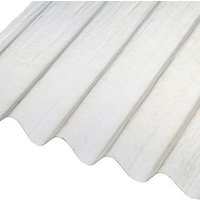 Corrubit Clear Polyester (PES) Corrugated Roofing sheet (L)2m (W)950mm (T)0.8mm