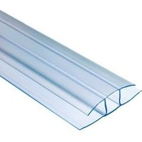Polywall Polywall Clear H-shaped Profile Jointing strip (L)2m (W)160mm