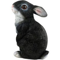 Black & White Sitting Rabbit Garden Ornament