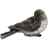 Resting Female Sparrow Garden Ornament
