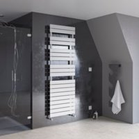 Ximax White Towel warmer (H)970mm (W)500mm
