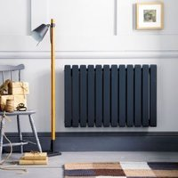 Ximax Vulkan Square Horizontal Radiator Anthracite (H)600 mm (W)1185 mm