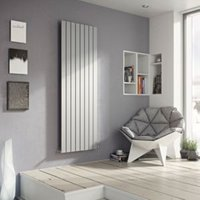 Ximax Vertirad Vertical/horizontal Designer radiator Silver effect (H)1500 mm (W)445 mm
