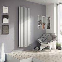 Ximax Vertirad Vertical/horizontal Designer radiator Silver effect (H)1800 mm (W)595 mm