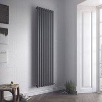 Ximax Fortuna Vertical Designer radiator Anthracite (H)1800 mm (W)472 mm