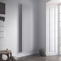 Ximax Fortuna Duplex Vertical Designer radiator White (H)1800 mm (W)590 mm