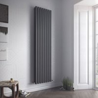 Ximax Fortuna Duplex Vertical Radiator Anthracite (H)1800 mm (W)236 mm